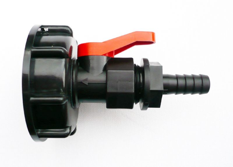 "IBC Adapter (2"" - S60 - 60mm) to 1"" (25mm) Hose Tail 